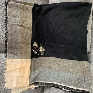 Authentic Coach Wool Shawl
